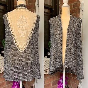 On Carnaby Women's Cardigan Size M Black Ivory